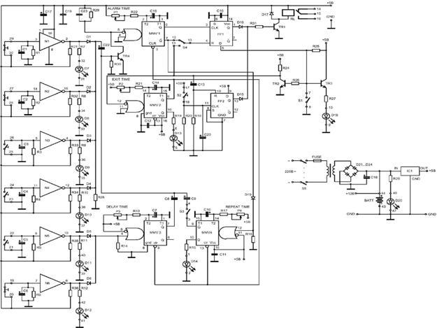 Свч излучатель датчик схема электрическая.
