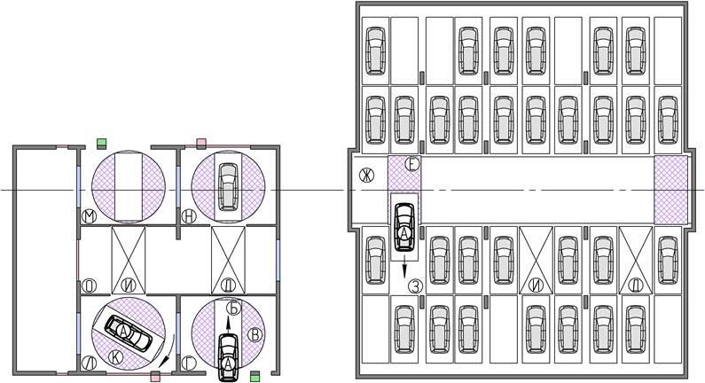 парковки автомобилей