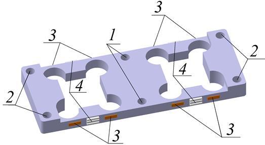 Рисунок 10 - Принципиальная схема упругого элемента тензометрических весов.