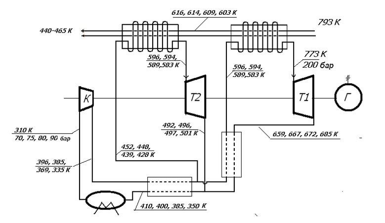 Схема установки с двумя